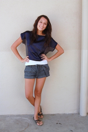 Urban Outfitters top - bcbg max azria shorts