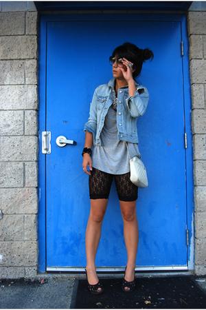 Old Navy jacket - Target t-shirt - Target shorts - vintage Ganson purse - Kenzie
