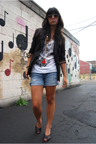 Urban Outfitters shirt - Express blazer - abercrombie and fitch shorts - Kenzie