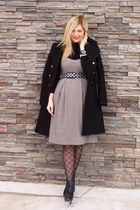 Aldo boots - hm dress - Zara jacket - Joe Fresh blouse - f21 belt