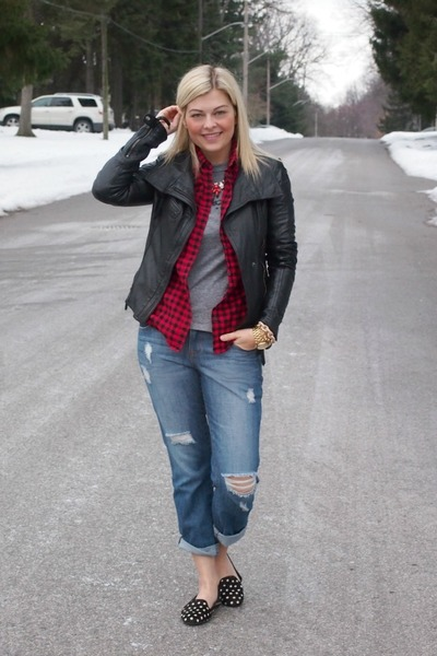 Luxe Craving necklace - Gap shoes - f21 jeans - danier jacket - Joe Fresh shirt