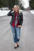 Luxe Craving necklace - Gap shoes - f21 jeans - danier jacket - Joe Fresh shirt