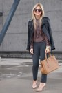 Zara-shoes-danier-jacket-zara-shirt-prada-purse-karen-walker-sunglasses