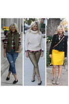 Joe Fresh shirt - Target boots - f21 jeans - Joe Fresh sweater - Zara pants