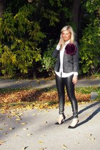 Sugarlips jacket - Zara shoes - f21 necklace - H&M pants - Joe Fresh blouse