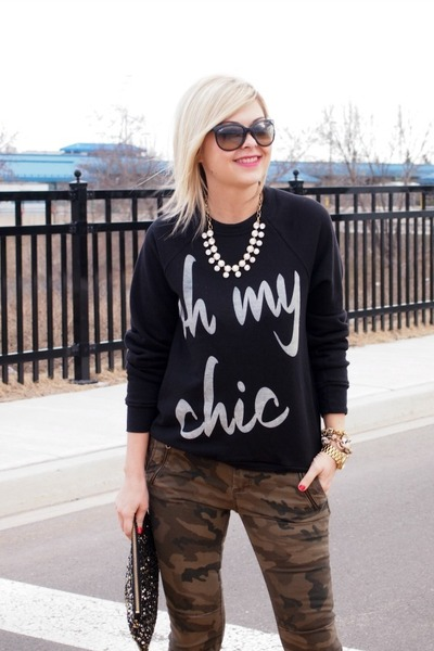 fee63f935a ily couture sweater - H M bag - Ray Ban sunglasses - ily couture necklace