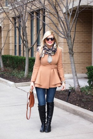 OASAP jacket - Browns boots - H&M jeans - Forever 21 shirt - coach bag