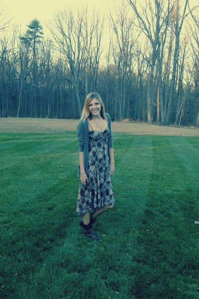 charcoal gray patterned free people dress