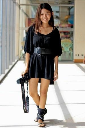 shirt Esprit dress - boot DKNY sandals - wide buckle DKNY belt