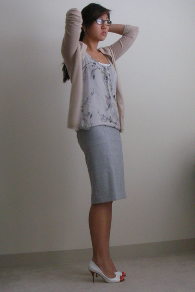 Gilly Hicks shirt - Victorias Secret skirt - JCrew sweater - Dolce and Gabbana s