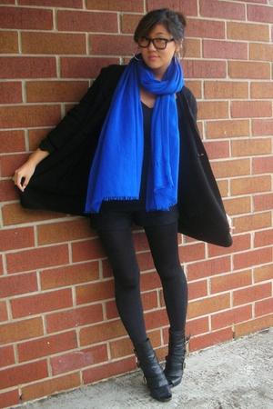 haute hippie shorts - Theory shirt - JCrew sweater - Club Monaco scarf - Dolce V