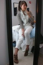 Zara sweater - JCrew blouse - JCrew pants - Nine West shoes