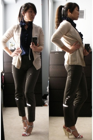 JCrew sweater - JCrew blouse - Zara pants - Marc by Marc Jacobs shoes