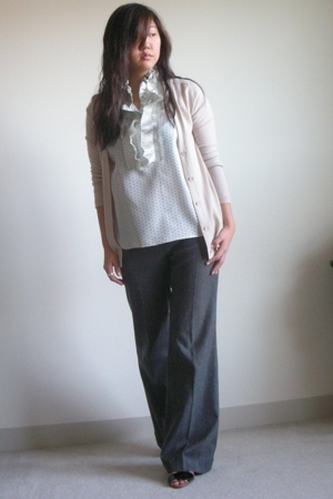 JCrew sweater - JCrew blouse - Alice  Olivia pants - bcbg max azria shoes