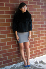 Silver-bcbg-skirt-blue-zara-shoes-black-adrienne-landau-jacket