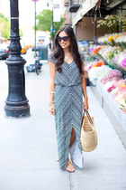 Velvet by Graham & Spencer dress - vintage bag - tory burch sandals
