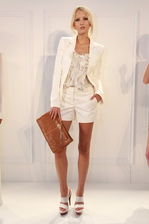 Rachel Zoe blazer - purse - Rachel Zoe shorts - heels