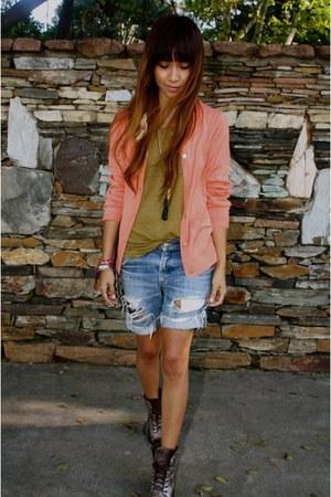 blazer - shorts - bracelet