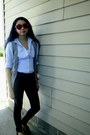 Navy-dark-wash-forever-21-jeans-light-blue-h-m-shirt-red-forever-21-sunglass