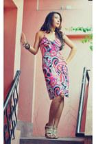 cotton mint dress - studded Daniella heels