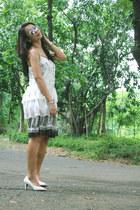chiffo cotton no brand dress - leather Figlia heels