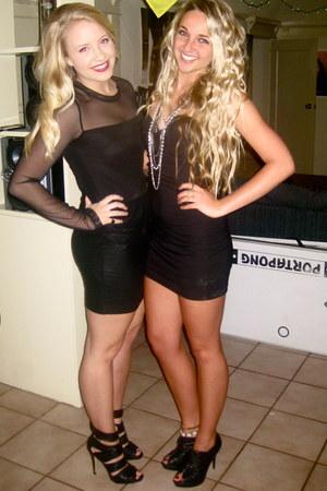 black BCBG dress - black Boutique 9 heels