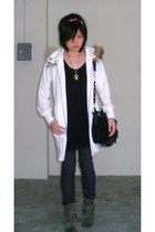 jacket - asos top - POA leggings - pull&bear boots - vivienne westwood accessori