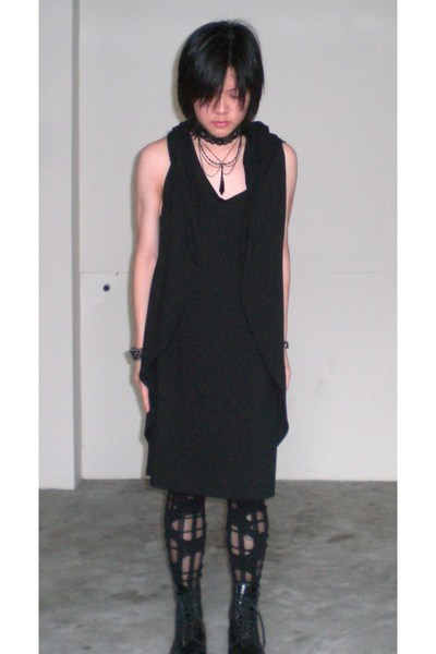 schwingschwing dress - diva accessories - DKNY accessories - socks - Topshop tig