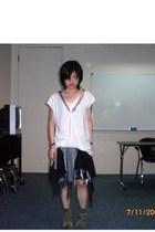 t-shirt - glp skirt - pull&bear boots