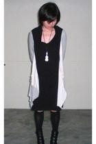 schwingschwing dress - jacket - GoJane boots - accessories