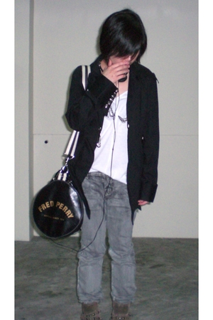 r-series jacket - top - jeans - pull&bear boots