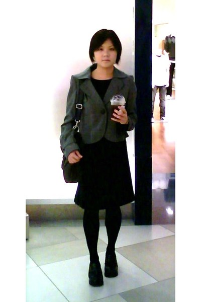 g2000 blazer - Browns dress - pushcart accessories - Dorothy Perkins tights - sh