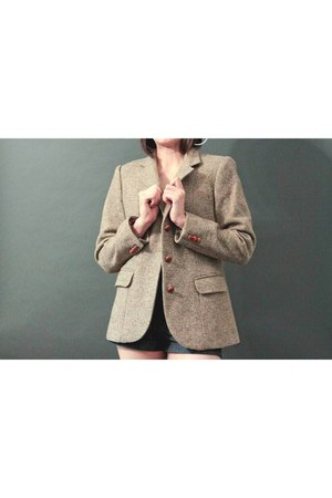 tan tweed No label blazer