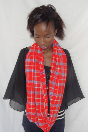 red KwanzaInspira scarf
