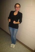 black Forever 21 jacket - black pitaya shirt - Forever 21 jeans - Rocketdog shoe