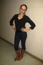 Forever 21 shirt -  belt - Forever 21 jeans - Gianna boots