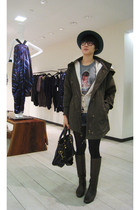 Levis shorts - Dolce&Gabbana t-shirt - from Korea jacket - Bottega Veneta boots