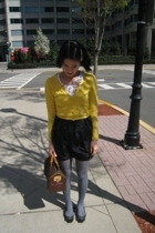 vintage - H&M skirt - Louis Vuitton purse