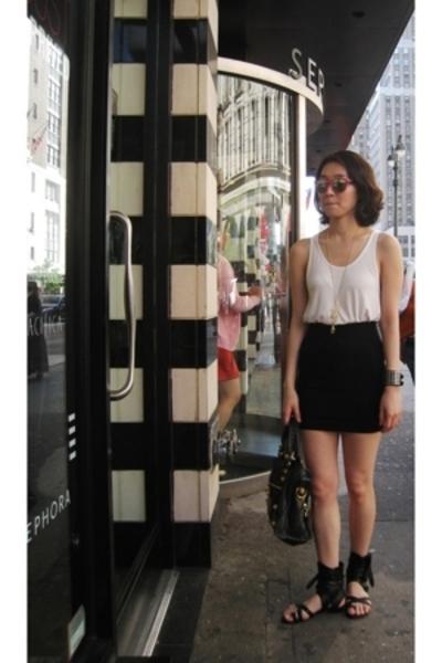H&M top - H&M skirt - Jeffrey Campbell shoes - H&M accessories - balenciaga purs