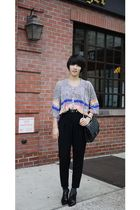 Tsumori Chisato cardigan - vintage pants - Valentino booties - Chanel purse