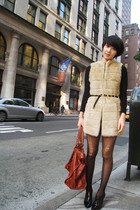 vintage Ferragamo belt - Valentino shoes - Zara vest