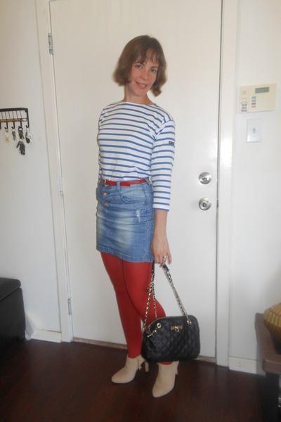 blue jean skirt Twenty-Four Seven skirt - beige Ralph Lauren boots