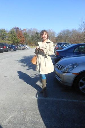 banana republic coat - Circa boots - HUE tights - DKNY bag