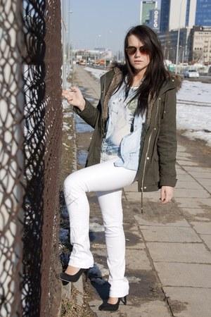white white jeans Terranova pants - black black classic new look heels
