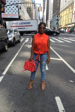Zara bag - Orange top