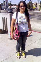Acrylic t-shirt - Rocawear jeans - Nike Dunks shoes - Guess purse