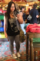 Charlotte Russe jacket - Urban Outfitters shirt - leggings - Converse shoes - Gu