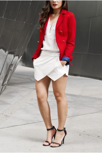 Red Blazer H&m Jacket White