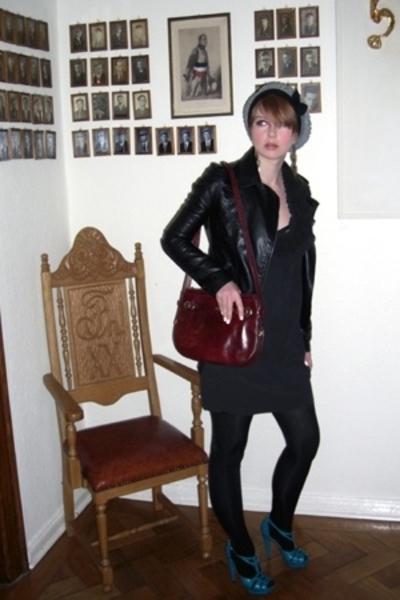 Topshop shoes - Twenty8Twelve dress - New Yorker jacket - vintage accessories