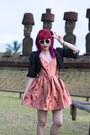 Hot-pink-jacquard-house-of-holland-dress